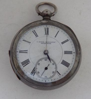 Silver, H Samuel, Swiss made Pocket Watch