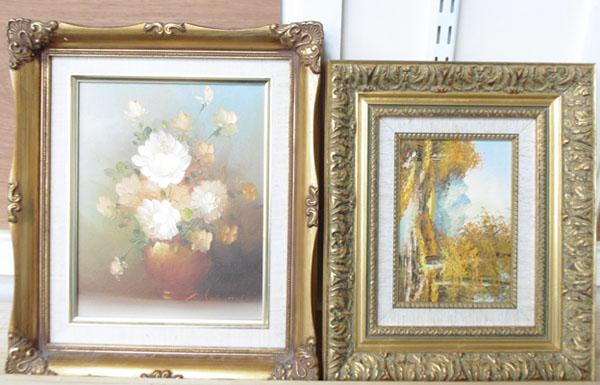 2x Gilt framed oil paintings