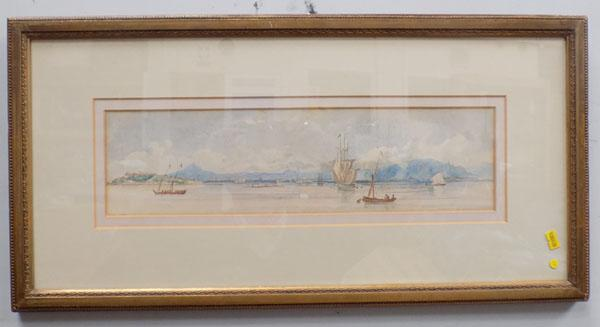 Large watercolour-Bay of Naples