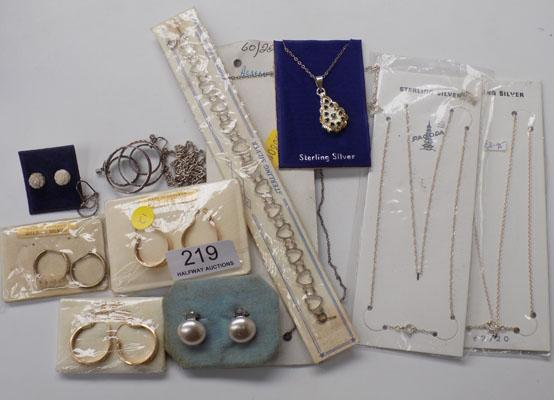 Large selection of silver jewellery