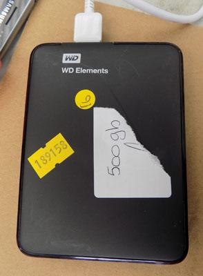 WD elements 500gb W/O