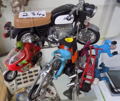 Mixed diecast bikes and trikes including spares