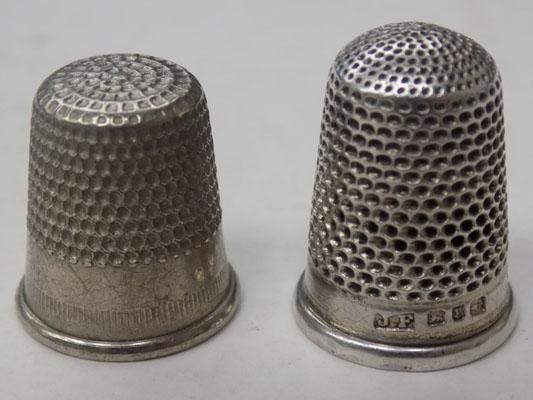 2x thimbles - one Birmingham & one other
