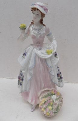"Coalport Lady ""The Flower Seller"""