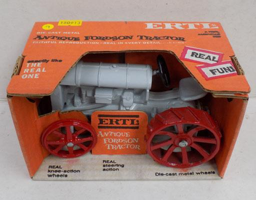 Antique Fordson die-cast tractor, 1950's model, boxed, mint
