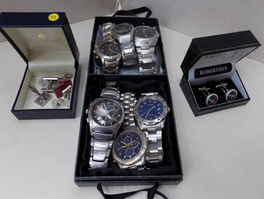 Collection of gents items incl 6 watches (as seen)
