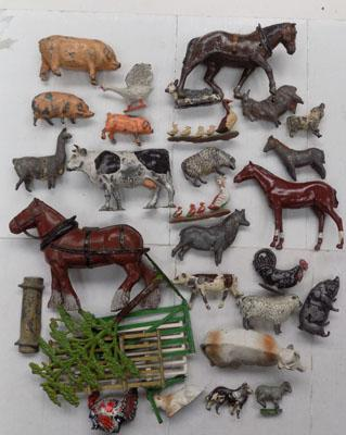 Collection of lead, 1930/40s - Britains/Charbens Farm figures