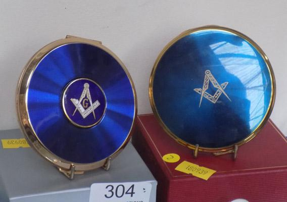 2 Masonic compacts-Stratton and Mascot. Good enamelling on Stratton