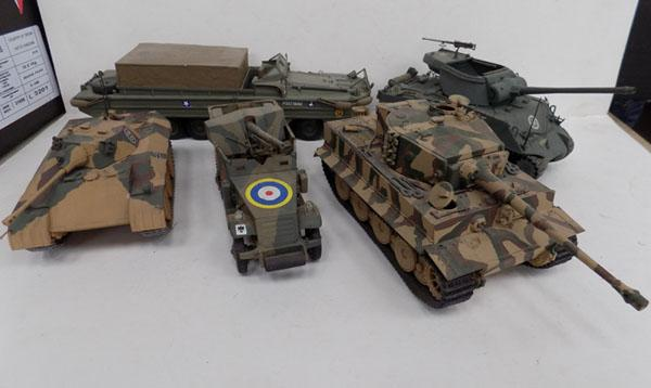 Selection of Tanks half track, duck