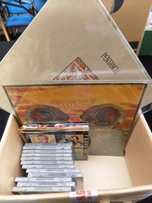 Box of Records & CDs, including Pentangle, Bowie, & Steppenwolf