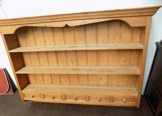 Large pine wall unit