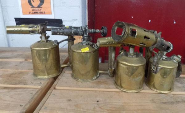 Original Sievert brass blow torches x4