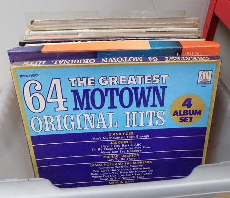 Large box of records, incl. Motown & Soul
