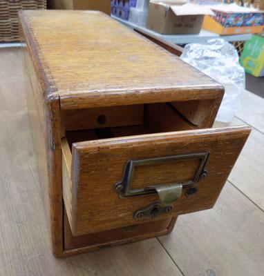 2 drawer wooden filing chest