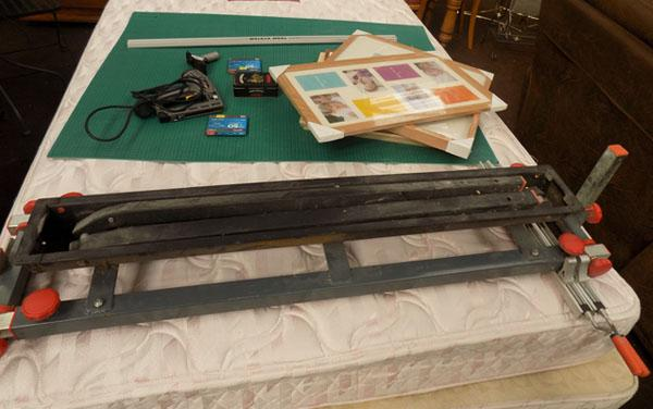 Job lot of frame making equipment