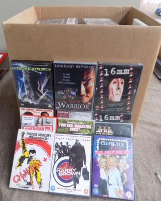 2 boxes of CDs & DVDs