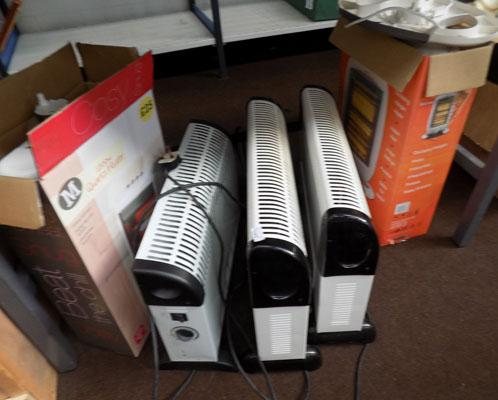 5x Electric heaters
