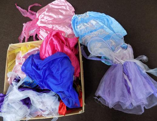 Large box of girls assorted dress up items