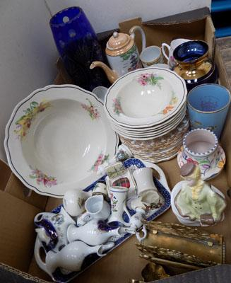 Quality box of collectable ceramics, incl. Royal Doulton