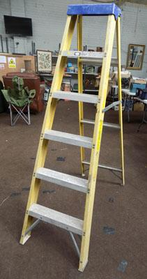 Large electrician insulated step ladders
