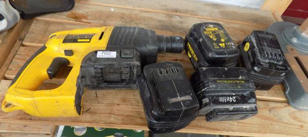 DeWalt 24v drill body-no batteries or charger