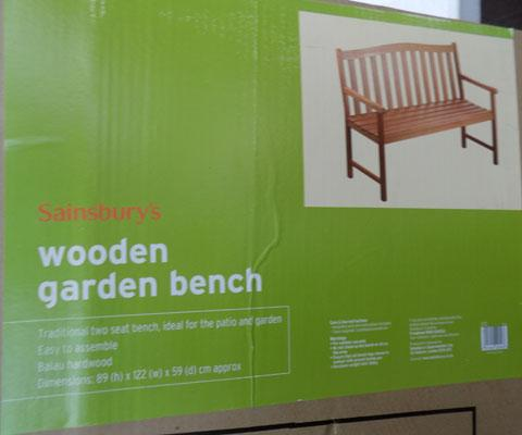 Garden bench-new in box