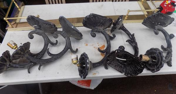 5x Cast light brackets-refurbed from Tramshed