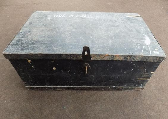 Vintage WW1/WW2 foot locker box - M P Hall
