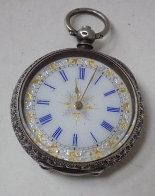 Sterling silver ladies pocket watch