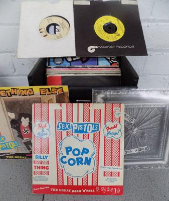 Box of punk singles
