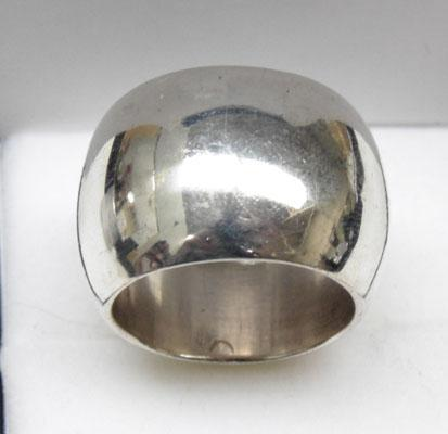 925 silver 17mm wide ring - Size P 1/2