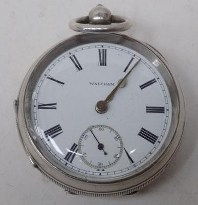 Waltham solid silver pocket watch - Birmingham 1911