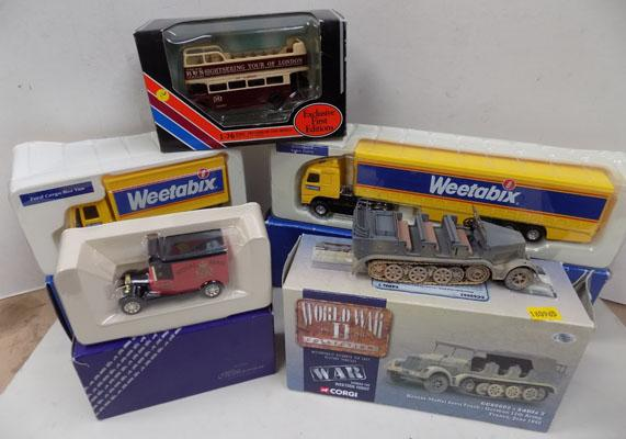 Boxed Corgi & Gilbow Die-Cast Vehicles