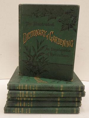 Set of 6 vintage dictionary of gardening books