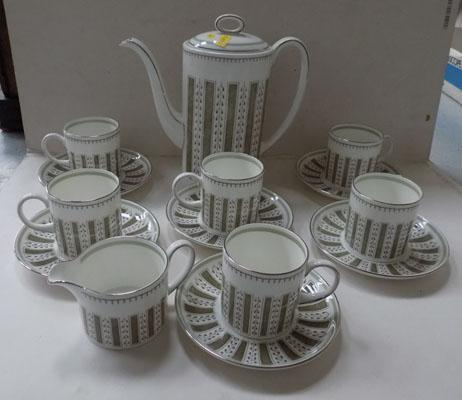 6 piece Wedgewood - Susie Cooper design Persia Coffee Set