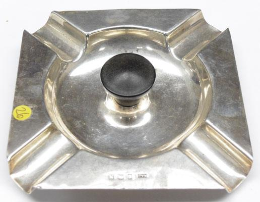 Solid silver ashtray - Birmingham hallmark