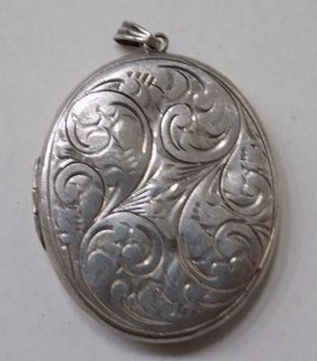 Large silver locket