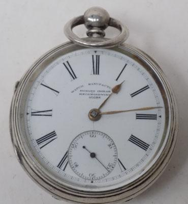Vintage Richard Ingram silver pocket watch - London 1884