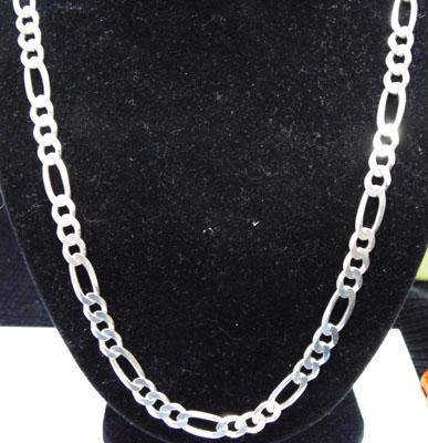 Solid silver curb link neckchain