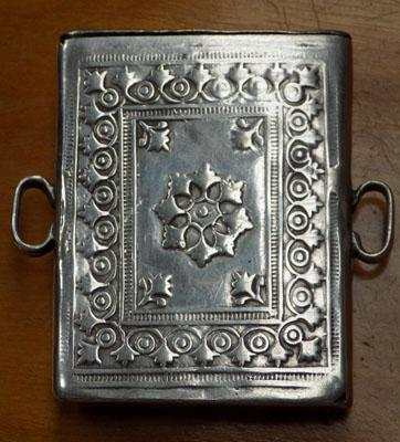 White metal vesta case