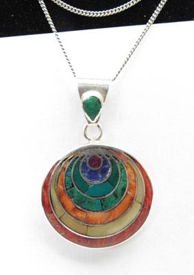 Sterling silver necklace with unusual pendant