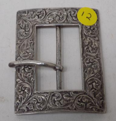 Solid silver buckle - Chester circa 1886