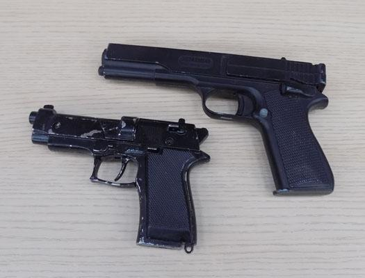 2 x Guns -Milbro repeater 4.55ml + other