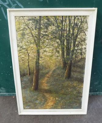 Oil painting - woodland scene
