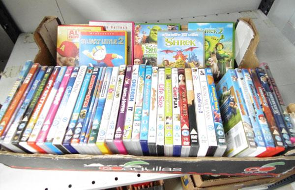 Large box of childrens dvds