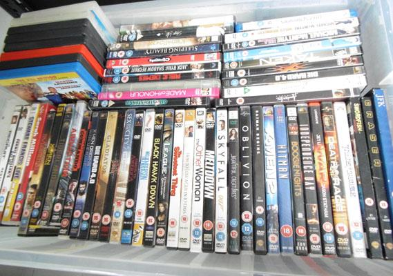 Large box of dvds - over 60