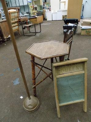 Posser, wash board and table