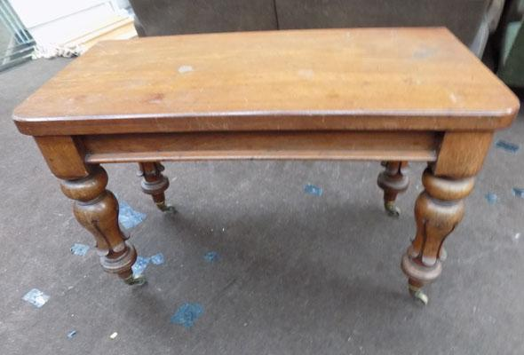Antique drop leaf carved table