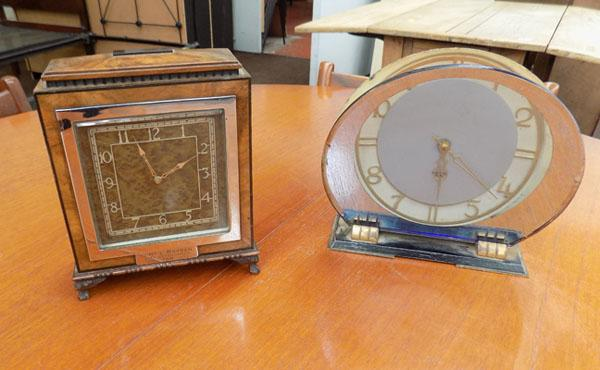 2 Art Deco clocks dated 1934