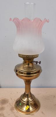 Victorian double wick oil lamp